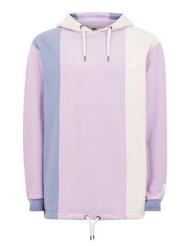 Purple Vertical Stripe Hoodie by Topman