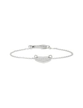 Silver Heart Logo Bracelet by Gucci
