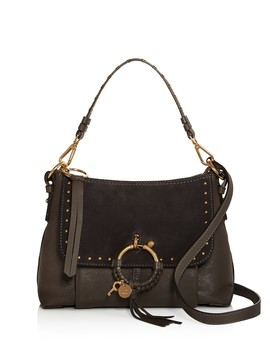 Joan Small Leather & Suede Shoulder Bag by See By Chloé