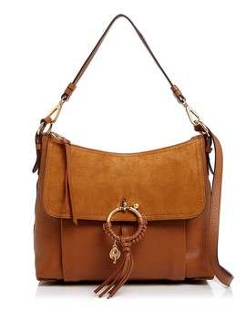 Joan Suede & Leather Shoulder Bag by See By Chloé