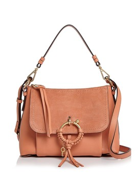 Joan Small Leather & Suede Convertible Shoulder Bag  by See By Chloé