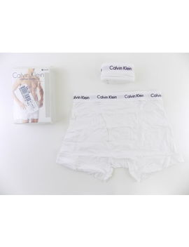 Calvin Klein $35 Stretch White Sz M (32 34) Men 2 Pk Boxer Brief Underwear D24 by Ebay Seller