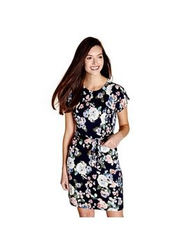 Yumi   Navy Blooming Floral 'ronnie' Shift Dress by Yumi