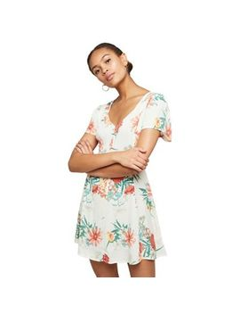 Miss Selfridge   Cream Floral Fit And Flare Dress by Miss Selfridge