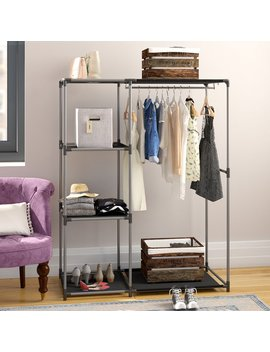 "Rebrilliant 39.13""W Black/Gray Closet System & Reviews by Rebrilliant"