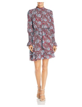 Belinda Long Sleeve Floral Print Dress by Rebecca Minkoff