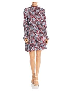 Belinda Long Sleeve Floral Print Dress by Rebecca Minkoff