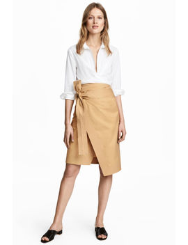 Cotton Wrapover Skirt by H&M