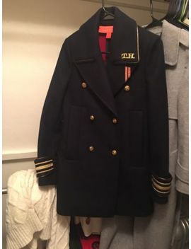 Tommy Hilfiger Gigi Hadid Design Navy Wool Military Coat Us2 by Tommy Hilfiger
