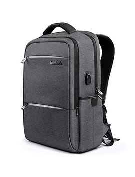 Inateck Laptop Backpack With Usb Charging Port, Anti Theft School Bag Business Travel Backpack Fits Up To 15.6 Inch Laptops, Rucksack With Waterproof Rain Cover And Luggage Belt   Dark Grey by Inateck