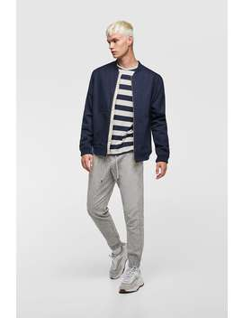 Linen Jogging Trousers  Trousers Basics Man by Zara