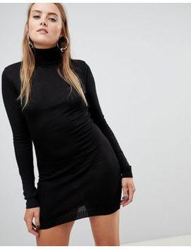 Vestido Estilo Jersey Con Cuello Vuelto De Boohoo by Asos