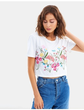 Tres Embroidery Tee by Mlm Label