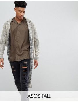 Asos Design Tall Knitted Duster Jacket In Oatmeal Slub by Asos Design