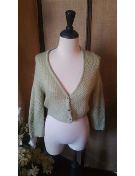 Free People 3/4 Sleeve Cropped Cardigan Mohair Sweater Size Small Petite by Free People