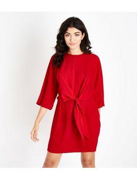Ax Paris   Mini Robe Rouge Nouée à L'avant by New Look