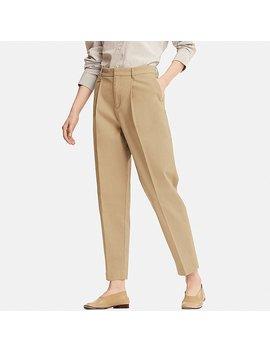 Pantalon Coton Longueur 7/8Ème Femme by Uniqlo