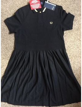 Ladies Fred Perry Black Pleated Pique Dress Size 12 Bnwt by Ebay Seller