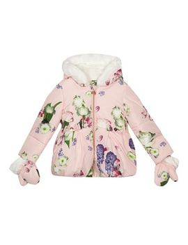 Baker By Ted Baker   'girls' Light Pink Floral Print Coat by Baker By Ted Baker