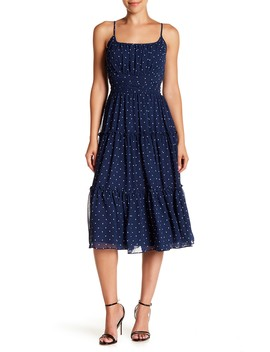 Polka Dot Layered Flounce Hem Dress by Gabby Skye