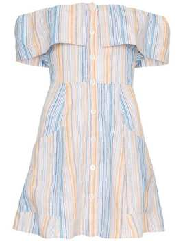 Reformation'landy' Off The Shoulder Linen Dresshome Women Reformation Clothing Cocktail & Party Dresses by Reformation