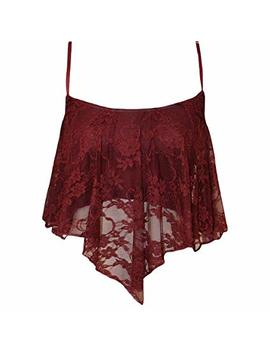 Women's Girl's Summer Casual Lace Camisole Crop Top Vest by Bodhi2000