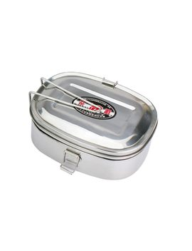 Stainless Steel Bento Lunch Box Food Container Food Box Portable Lunchbox Kitchen Rectangle Double Layers Bowl For Student Adult by Waasoscon