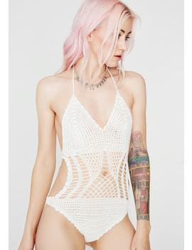 Icy Life Breezy Crochet Bodysuit by Hot Delicious