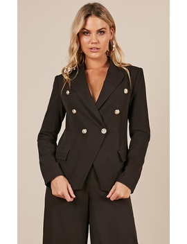 Working Together Blazer In Black by Showpo Fashion