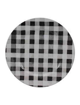 Black & White Buffalo Plaid Charger Plate By Ashland® by Ashland