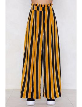 Straight Away Striped Pants by Nasty Gal