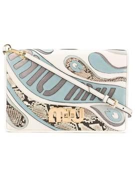 Miu Miupsychedelic Logo Shoulder Bag Home Women Miu Miu Bags Shoulder Bags by Miu Miu