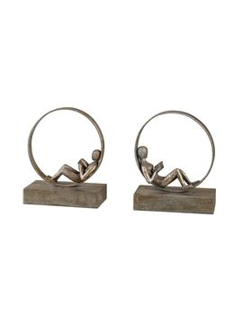 Uttermost Lounging Reader Bookends (Set Of 2) by Uttermost