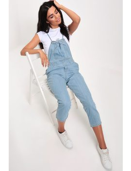 Light Blue Denim Strappy Dungaree by I Saw It First