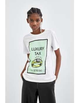 Shirt Mit Monopoly®  Print Slogans T Shirts Damen by Zara