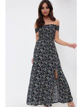 Navy Floral Maxi Dress by I Saw It First