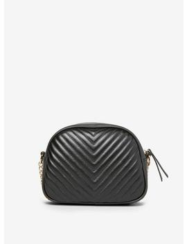 Black Quilted Chain Cross Body Bag by Dorothy Perkins