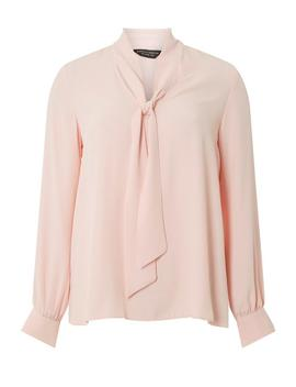 Pink Long Sleeve Pussybow Top by Dorothy Perkins