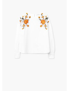 Blouse Broderie Florale by Mango