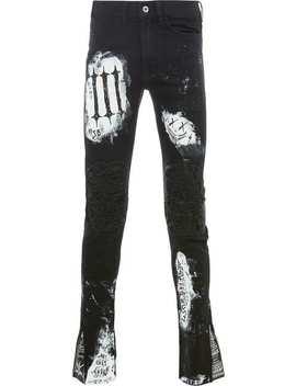Mjbpatchwork Distressed Skinnt Trousershome Men Mjb Clothing Skinny Pants by Mjb