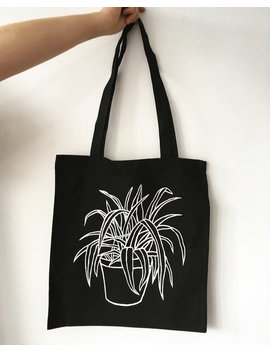 Spider Plant Tote Bag by Etsy