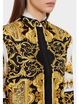 Barocco Ss'92 Print Silk Shirt by Versace
