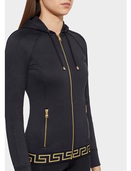 Greek Key Zip Hoodie by Versace