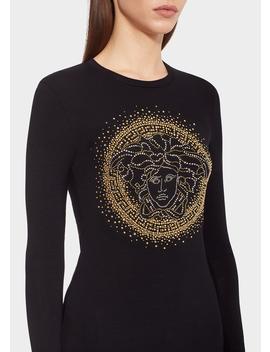 Medusa Studded T Shirt by Versace