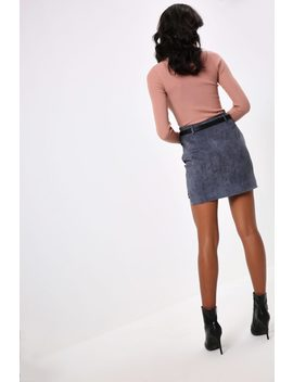 Blue Cord Mini Skirt by I Saw It First