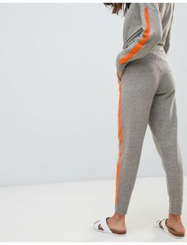 Micha Lounge Relaxed Joggers With Contrast Stripe Detail Co Ord by Micha Lounge