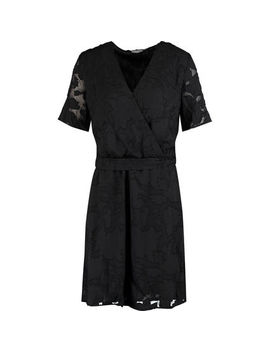 Black Floral Lace Dress by B Young