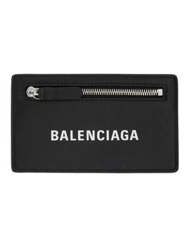 Black Long Baltimore Logo Card Holder by Balenciaga