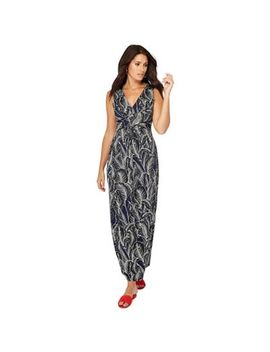 The Collection   Black Leaf Print Maxi Dress by The Collection