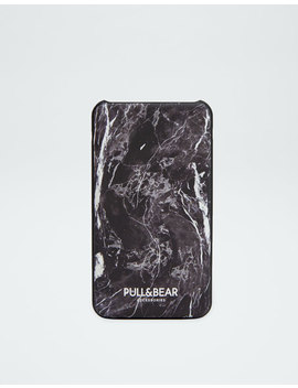 Marble Print Power Bank by Pull & Bear
